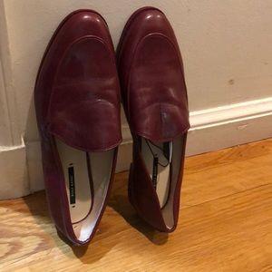 Zara red flat shoes